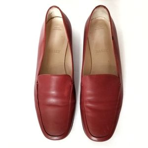 Bally Red Allegra Slip On Flats Shoes Size 7 M